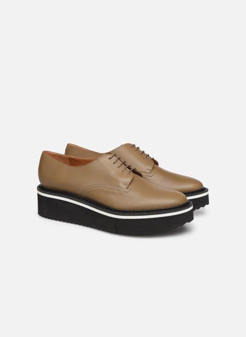 Chaussures à lacets Clergerie Berlin Beige vue 3/4