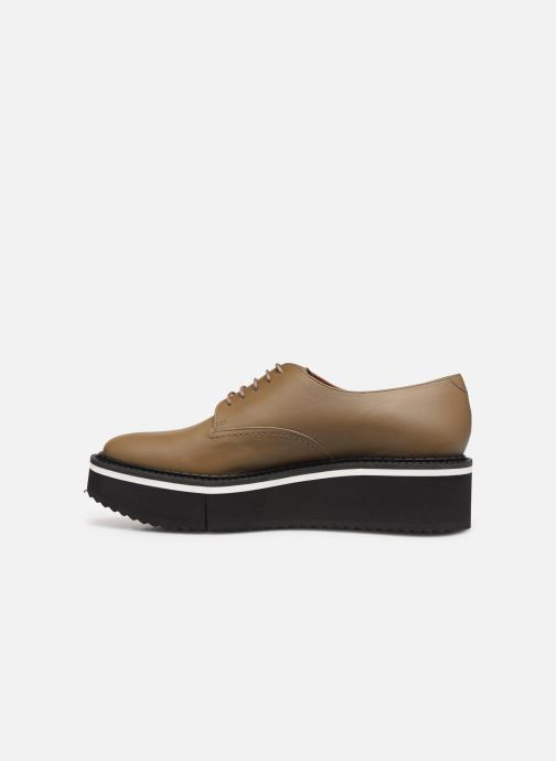 Lace-up shoes Clergerie Berlin Beige front view