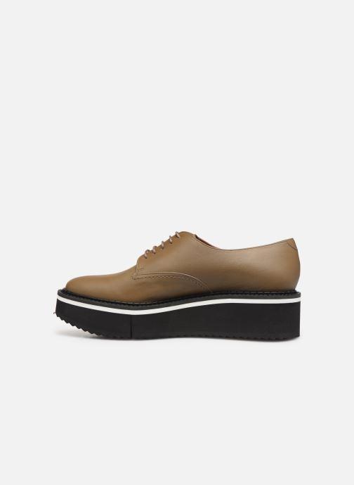 Chaussures à lacets Clergerie Berlin Beige vue face