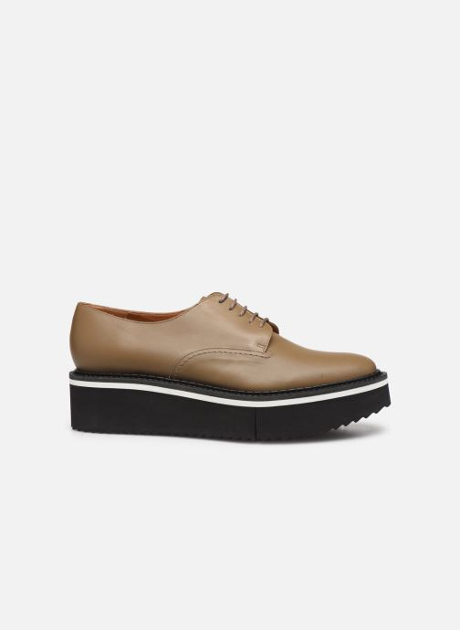 Lace-up shoes Clergerie Berlin Beige back view