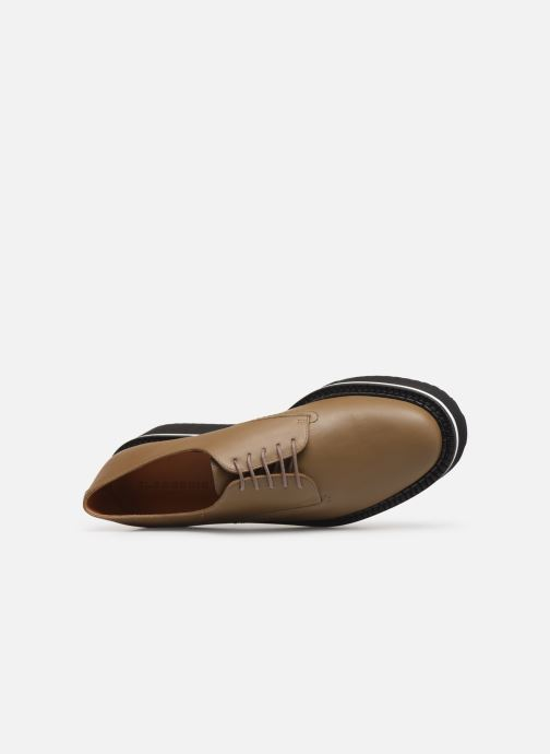 Lace-up shoes Clergerie Berlin Beige view from the left