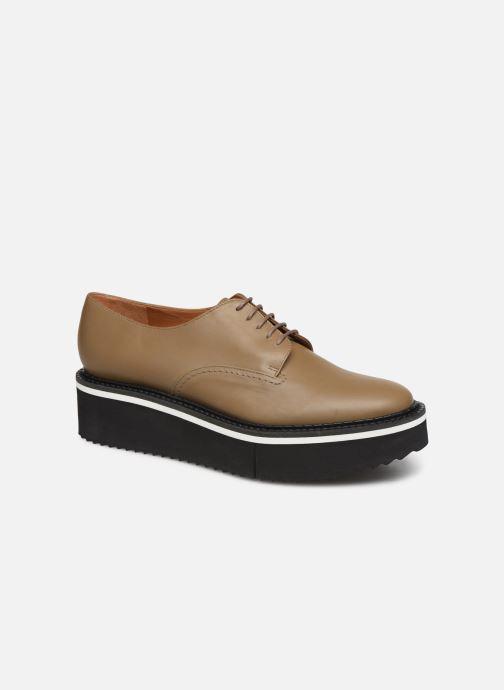 Chaussures à lacets Clergerie Berlin Beige vue détail/paire