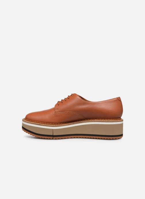 Chaussures à lacets Clergerie Berlin Marron vue face