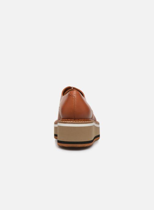 Chaussures à lacets Clergerie Berlin Marron vue droite