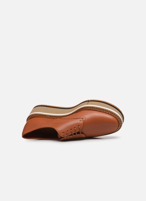 Chaussures à lacets Clergerie Berlin Marron vue gauche