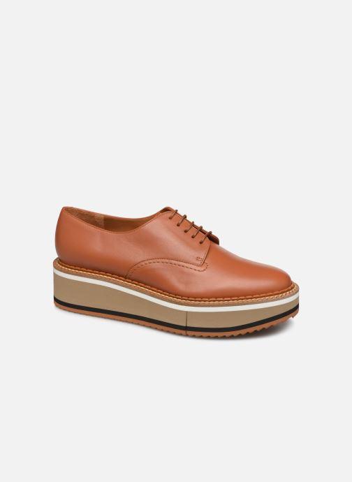 Chaussures à lacets Clergerie Berlin Marron vue détail/paire