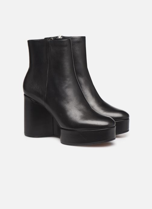 Ankle boots Clergerie Belen2 Black 3/4 view