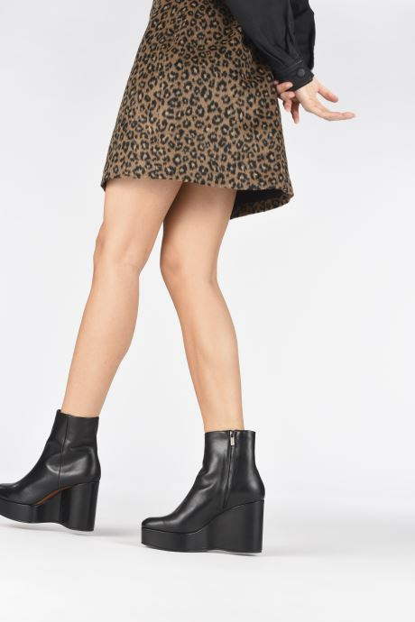 Ankle boots Clergerie Belen2 Black view from underneath / model view