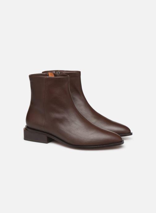 Bottines et boots Clergerie Xenon Marron vue 3/4