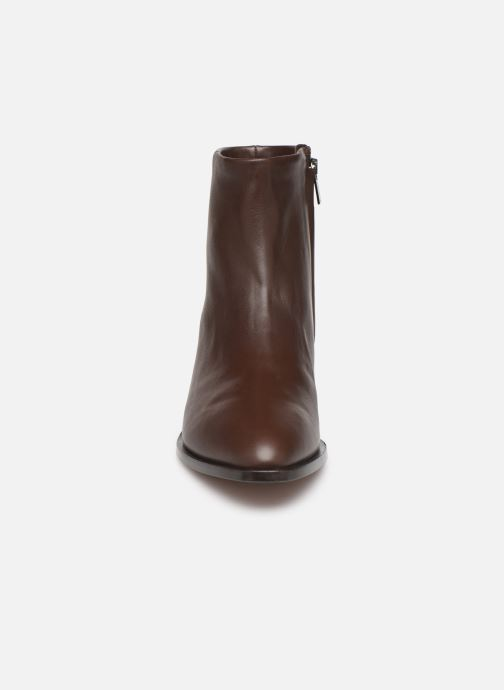 Ankle boots Clergerie Xenon Brown model view