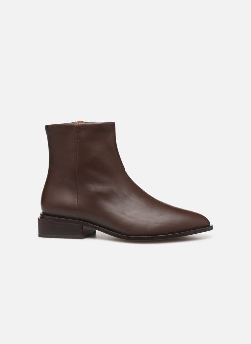 Ankle boots Clergerie Xenon Brown back view