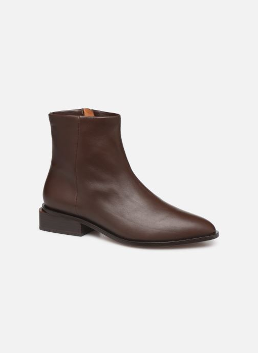 Ankle boots Clergerie Xenon Brown detailed view/ Pair view