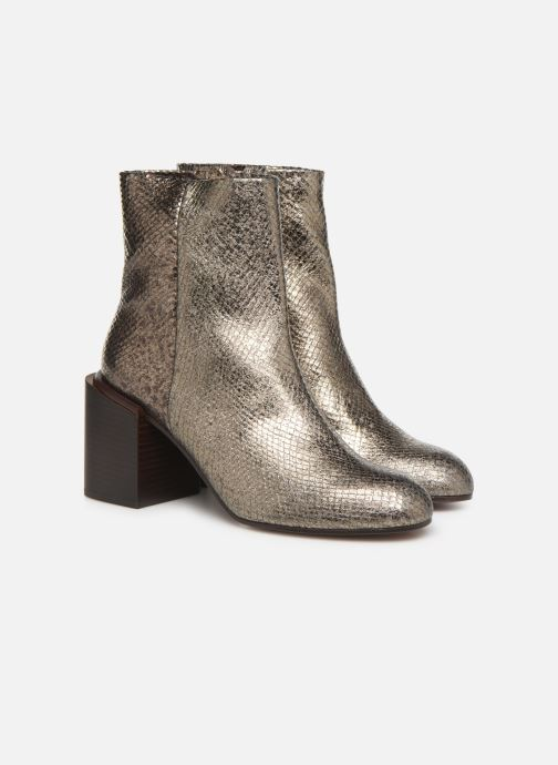 Bottines et boots Clergerie Xoel Argent vue 3/4