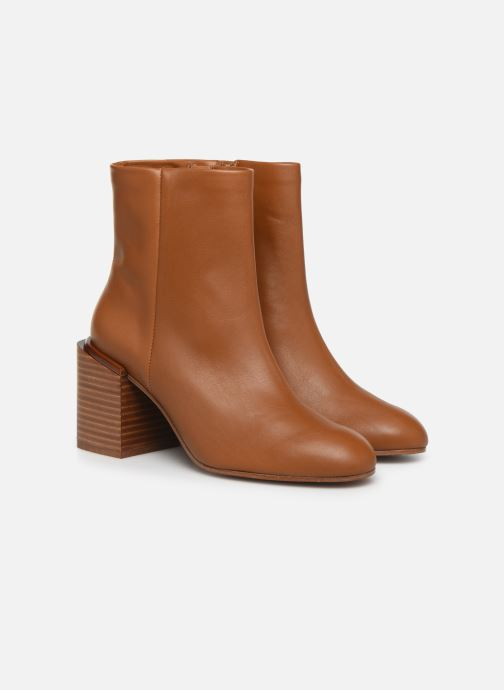 Ankle boots Clergerie Xoel Brown 3/4 view