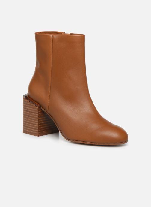 Ankelstøvler Clergerie Xoel Brun detaljeret billede af skoene