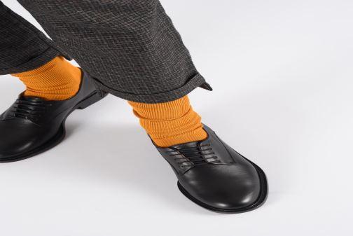 Chaussures à lacets Clergerie Rosie Argent vue bas / vue portée sac