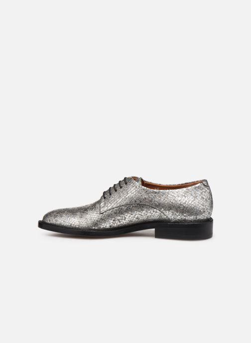 Chaussures à lacets Clergerie Rosie Argent vue face