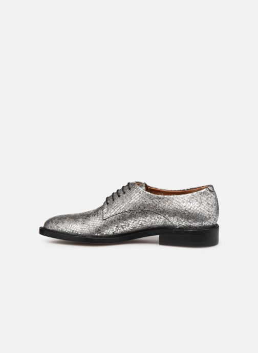 Lace-up shoes Clergerie Rosie Silver front view