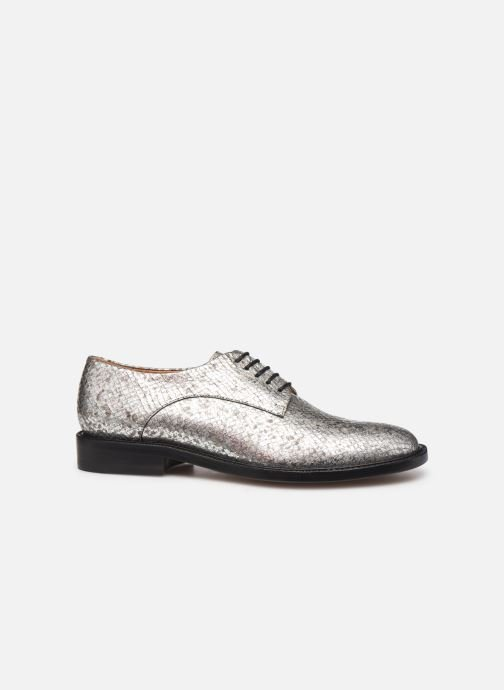 Lace-up shoes Clergerie Rosie Silver back view