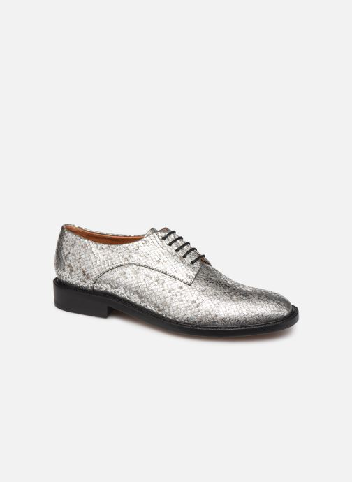 Lace-up shoes Clergerie Rosie Silver detailed view/ Pair view
