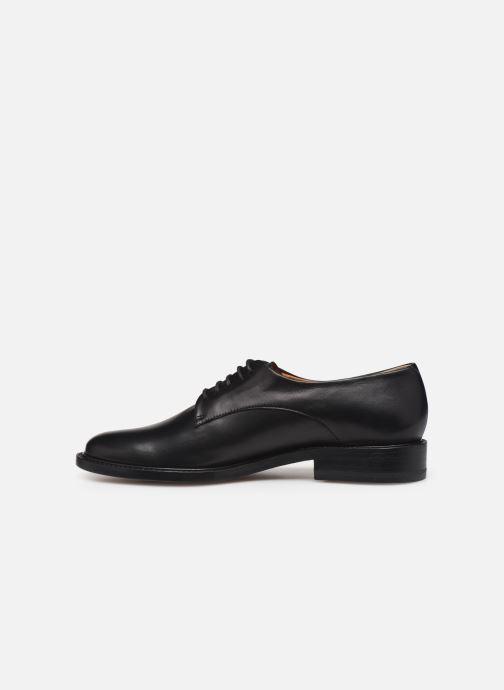 Chaussures à lacets Clergerie Rosie Noir vue face