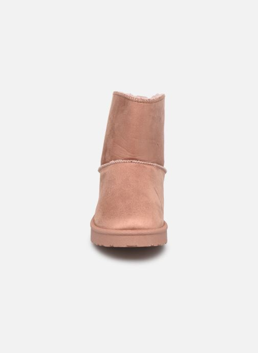 Bottes I Love Shoes THICHIBO Rose vue portées chaussures