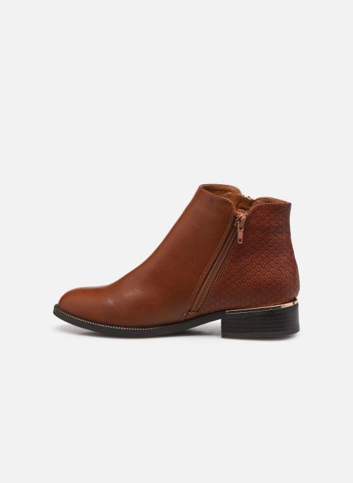 Bottines et boots I Love Shoes THALUNO Marron vue face