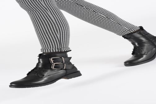 Bottines et boots I Love Shoes THEMPLE LEATHER Noir vue bas / vue portée sac