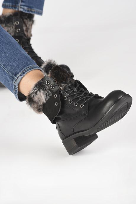 Bottines et boots I Love Shoes THRUDY FOURRE Noir vue bas / vue portée sac
