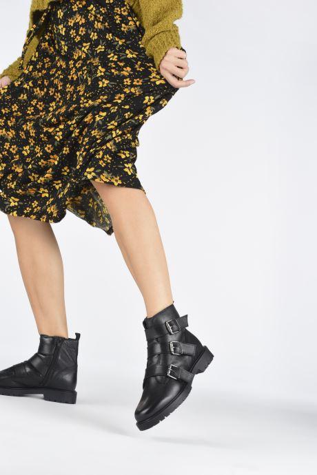 Bottines et boots I Love Shoes THYLER LEATHER Noir vue bas / vue portée sac