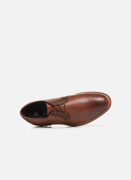 Scarpe con lacci I Love Shoes THAGON Marrone immagine sinistra
