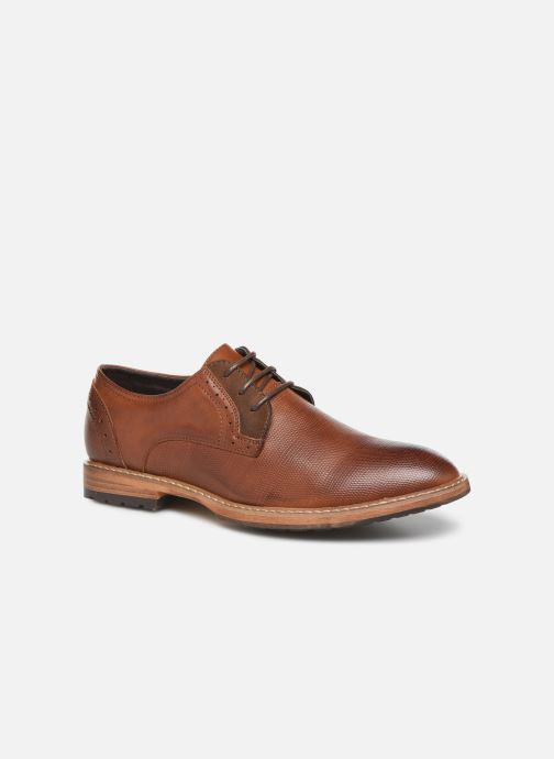 Chaussures à lacets I Love Shoes THAGON Marron vue détail/paire