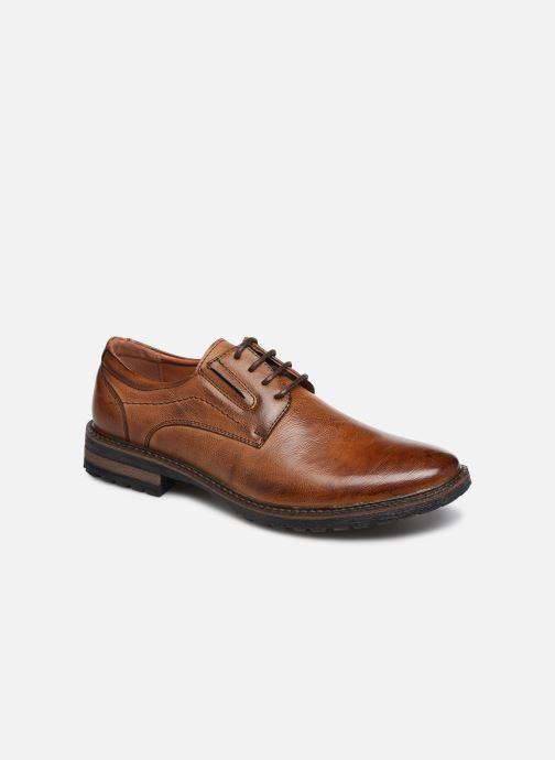 Snøresko I Love Shoes THRAFIC Brun detaljeret billede af skoene