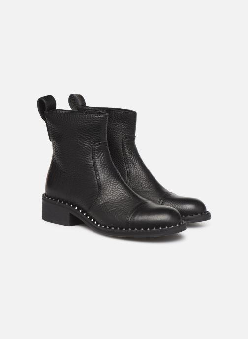 Bottines et boots Zadig & Voltaire Empress Clous Noir vue 3/4