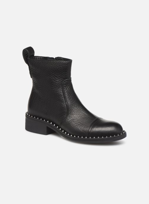 Bottines et boots Zadig & Voltaire Empress Clous Noir vue détail/paire