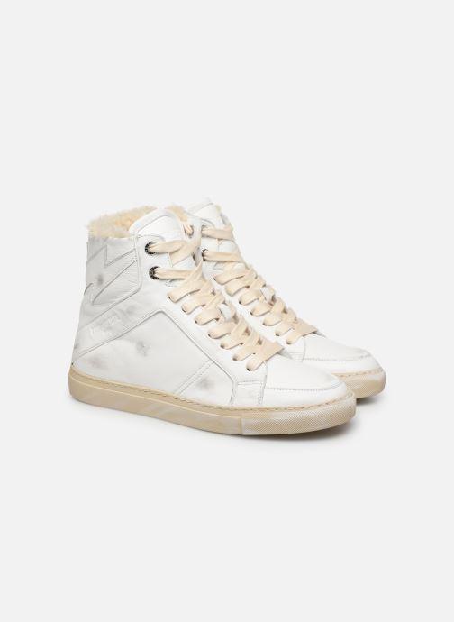 Baskets Zadig & Voltaire ZV1747 High Use Blanc vue 3/4