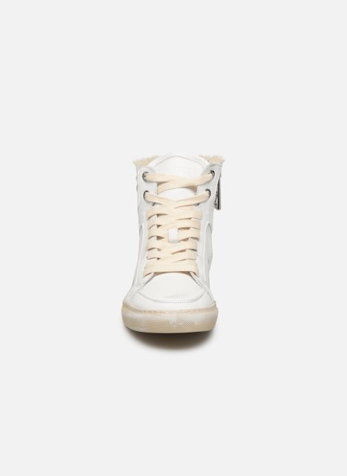 Baskets Zadig & Voltaire ZV1747 High Use Blanc vue portées chaussures