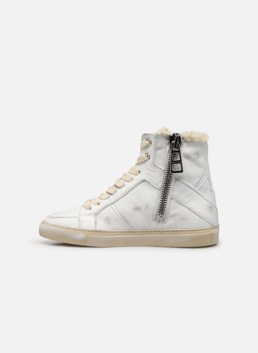 Baskets Zadig & Voltaire ZV1747 High Use Blanc vue face