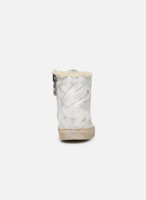 Baskets Zadig & Voltaire ZV1747 High Use Blanc vue droite