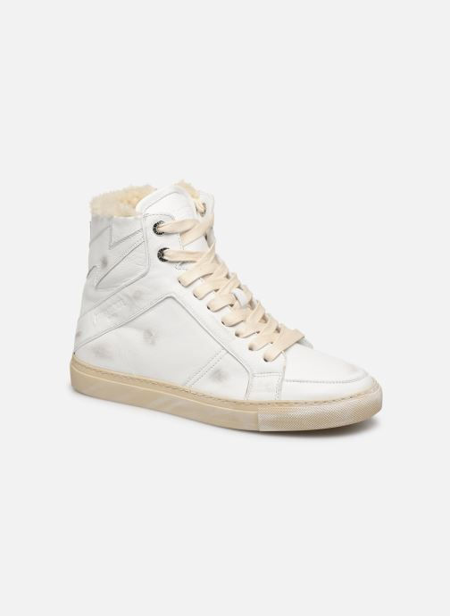Baskets Zadig & Voltaire ZV1747 High Use Blanc vue détail/paire