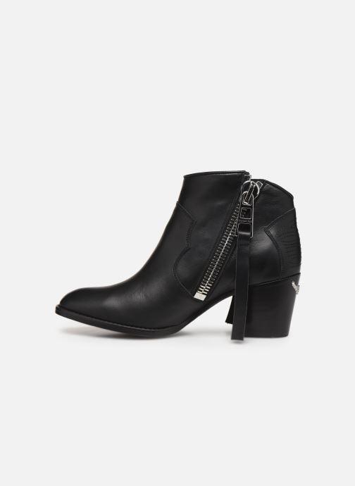 Bottines et boots Zadig & Voltaire Molly Zip Noir vue face