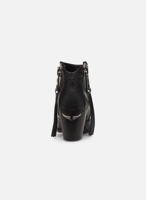 Stiefeletten & Boots Zadig & Voltaire Molly Zip schwarz ansicht von rechts