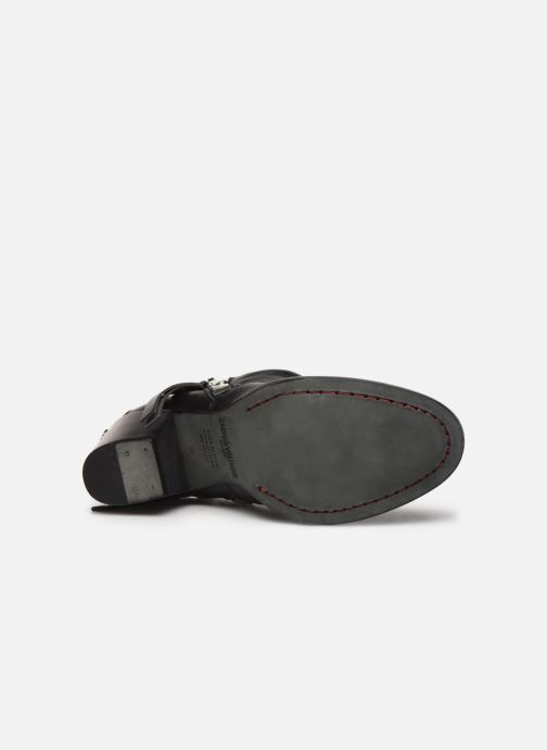 Bottines et boots Zadig & Voltaire Molly Zip Noir vue haut
