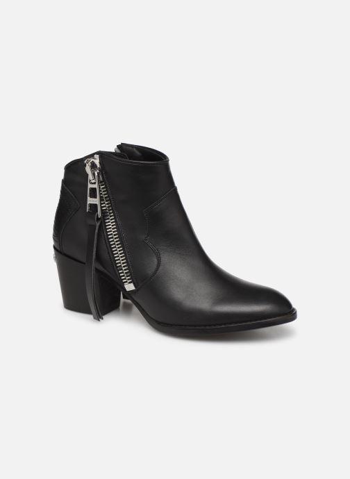 Bottines et boots Zadig & Voltaire Molly Zip Noir vue détail/paire