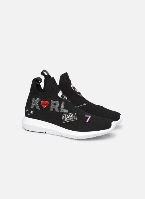Sneakers Karl Lagerfeld Vitesse Jewel Badge Mid Zwart 3/4'