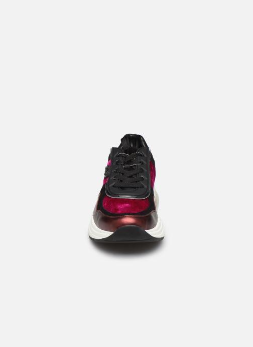 Baskets KARL LAGERFELD Ventura Lazare Velvet Lace Violet vue portées chaussures