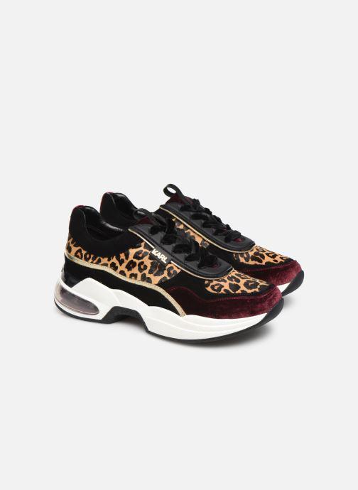 Baskets Karl Lagerfeld Ventura Lazare Leopard Mix Violet vue 3/4