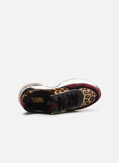 Baskets Karl Lagerfeld Ventura Lazare Leopard Mix Violet vue gauche