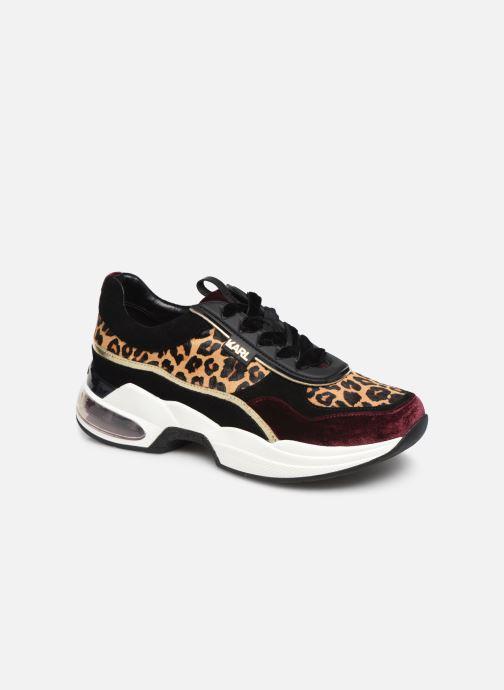 Baskets Karl Lagerfeld Ventura Lazare Leopard Mix Violet vue détail/paire