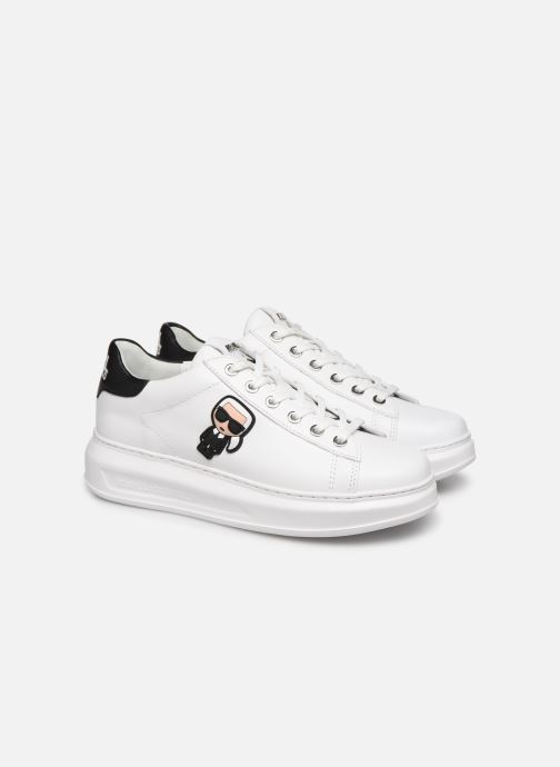 Sneaker KARL LAGERFELD Kapri Karl Ikonic Lo Lace 2 weiß 3 von 4 ansichten